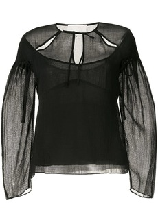 3.1 Phillip Lim Cutout Textured Silk Blouse