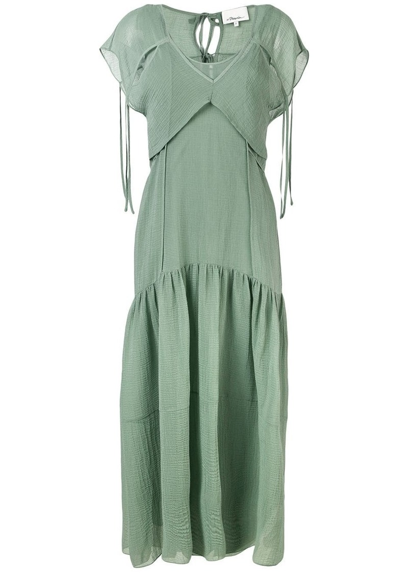 3.1 Phillip Lim Cutout Textured Silk Dress
