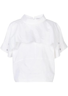 3.1 Phillip Lim Dolman foldover collar T-shirt