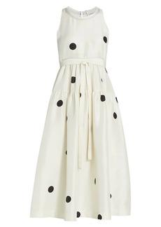 3.1 Phillip Lim Dot Print Belted Maxi Dress
