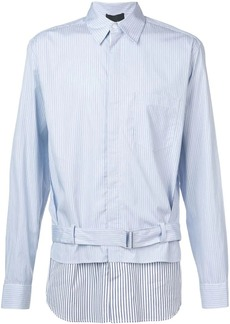 3.1 Phillip Lim Striped double-layered buckle shirt