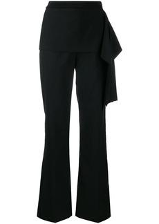 3.1 Phillip Lim draped detail straight trousers