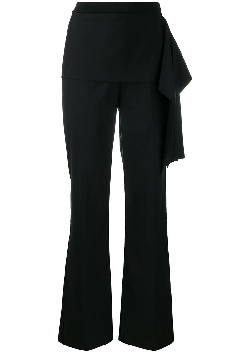 3.1 Phillip Lim draped detail straight trousers