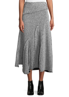 3.1 Phillip Lim Draped Wool Asymmetric Midi Skirt