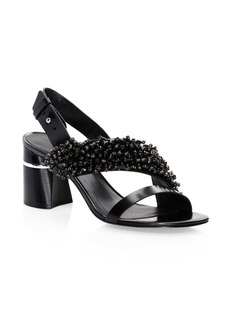 3.1 Phillip Lim Drum Beaded Leather Sandals