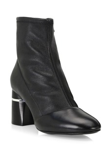 3.1 Phillip Lim Drum Block Heel Leather Booties