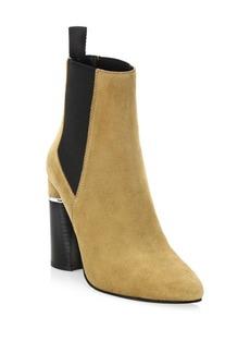 3.1 Phillip Lim Drum Suede Block-Heel Chelsea Boots