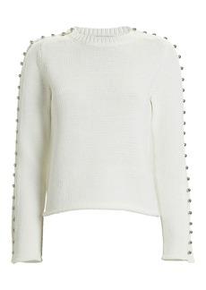 3.1 Phillip Lim Embellished Cotton-Blend Sweater