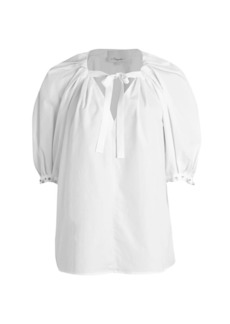 3.1 Phillip Lim Embellished Poplin Top