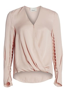 3.1 Phillip Lim Embellished Satin Blouse