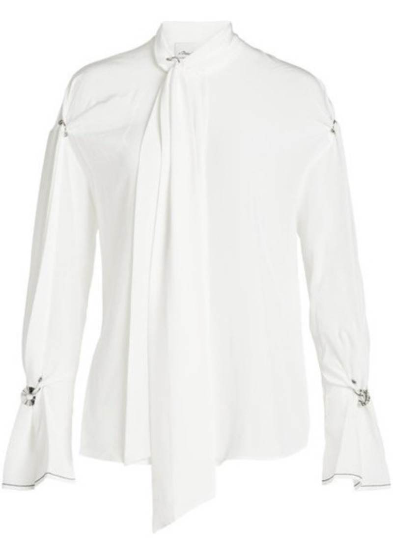 3.1 Phillip Lim Embellished Silk Blouse