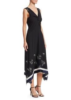 3.1 Phillip Lim Embellished Silk V-neck Dress