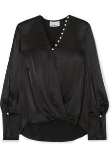 3.1 Phillip Lim Embellished Wrap-effect Satin Blouse