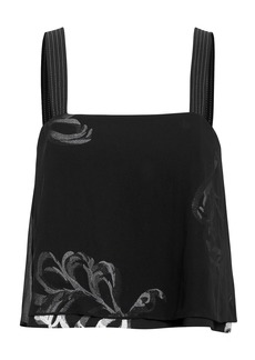 3.1 Phillip Lim Embroidered Overlay Top