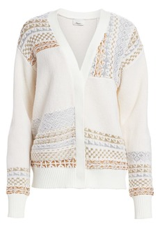 3.1 Phillip Lim Fair Isle Patchwork Wool Cardigan