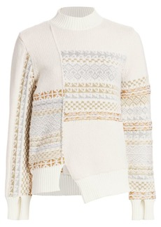 3.1 Phillip Lim Fair Isle Patchwork Wool Sweater