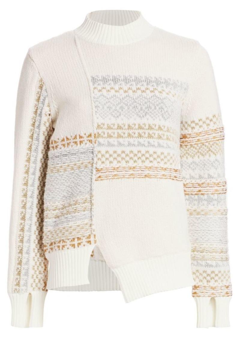 3.1 Phillip Lim Fair Isle Patchwork Wool Sweater