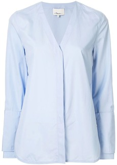3.1 Phillip Lim faux pearl V neck shirt