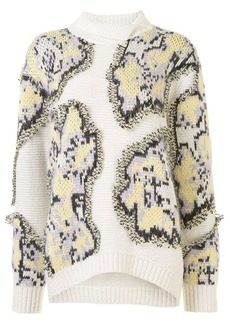 3.1 Phillip Lim fil coupe abstract daisy jumper