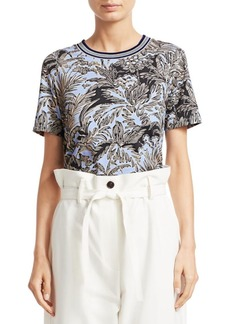 3.1 Phillip Lim Floral Print Cotton T-Shirt