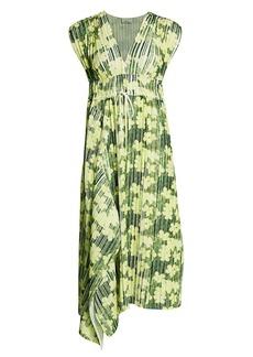 3.1 Phillip Lim Floral Print Pleated Midi Dress