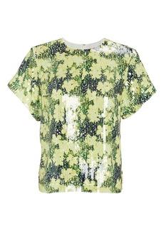 3.1 Phillip Lim Floral Printed Sequin Top