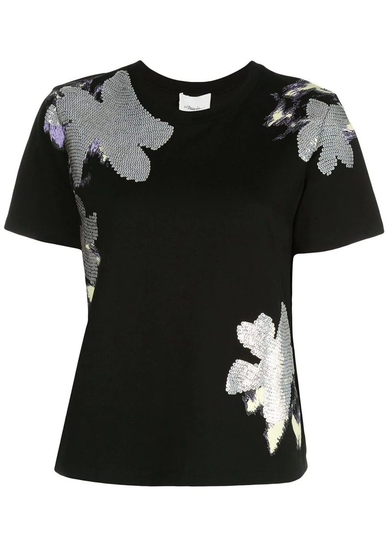 3.1 Phillip Lim floral sequin T-shirt