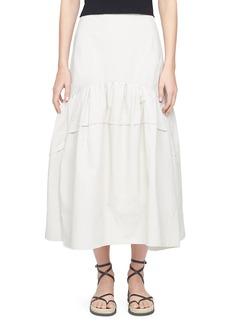 3.1 Phillip Lim Flounce-Hem Midi Skirt