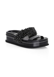3.1 Phillip Lim Freida Beaded Platform Slides