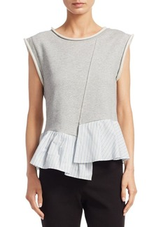 3.1 Phillip Lim French Terry Cotton Top