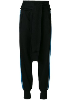 3.1 Phillip Lim French-Terry tie-front joggers