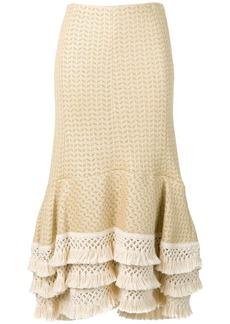 3.1 Phillip Lim Fringe-Hem Skirt