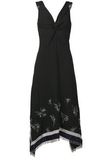 3.1 Phillip Lim fringe-hem V-neck dress