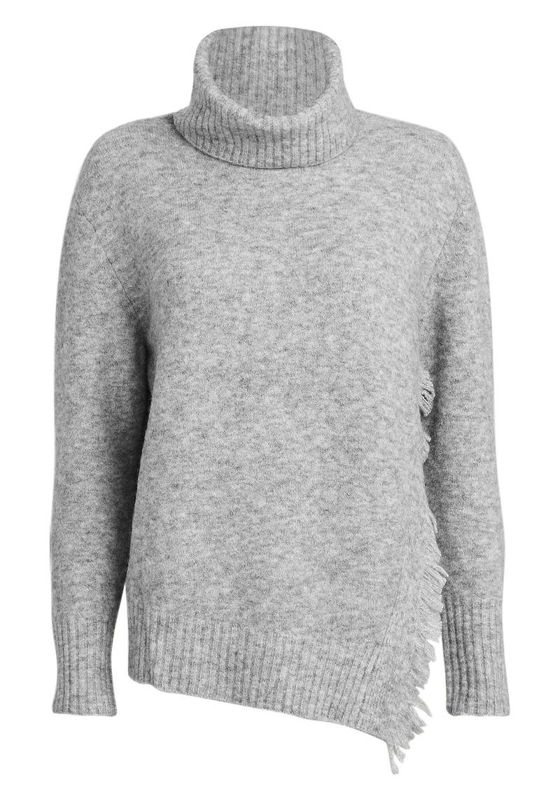 3.1 Phillip Lim Fringe Overlap Turtleneck Sweater