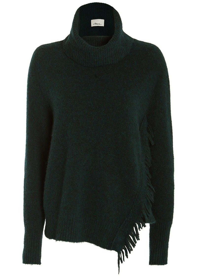 3.1 Phillip Lim Fringe Overlap Turtleneck Sweater