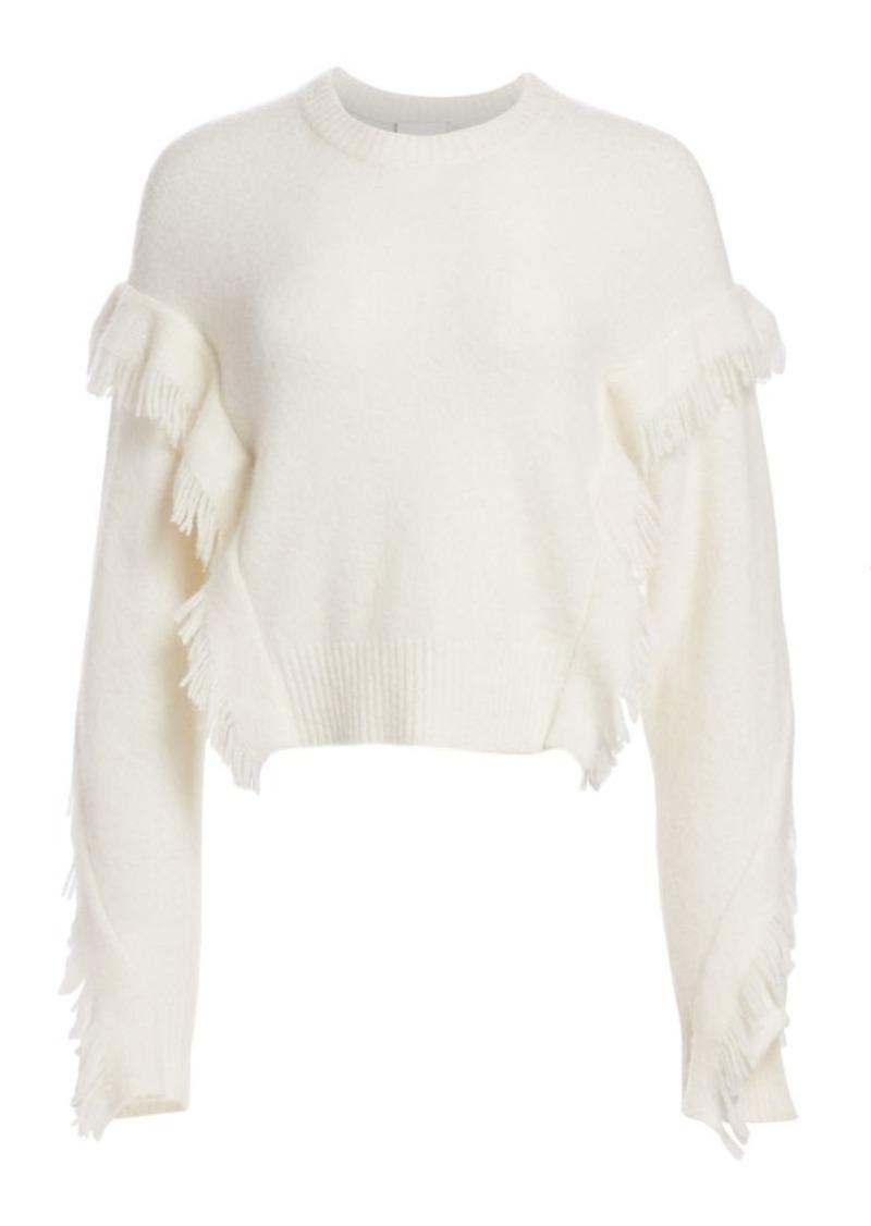 3.1 Phillip Lim Fringe-Trim Crewneck Sweater