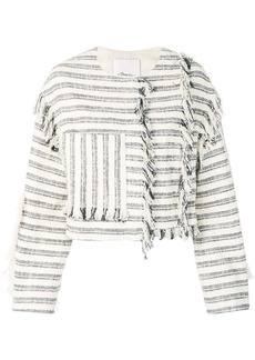 3.1 Phillip Lim fringed fitted jacket