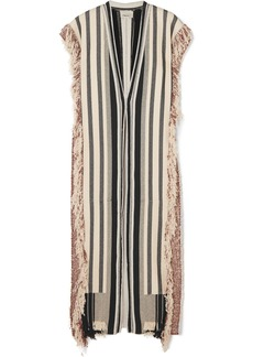 3.1 Phillip Lim Fringed Striped Cotton-blend Robe