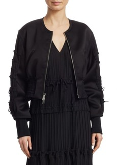 3.1 Phillip Lim Gathered Bomber Jacket