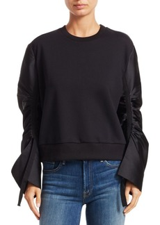3.1 Phillip Lim Gathered-Sleeve French Terry Sweatshirt