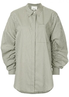 3.1 Phillip Lim Gathered-Sleeve Gingham Shirt