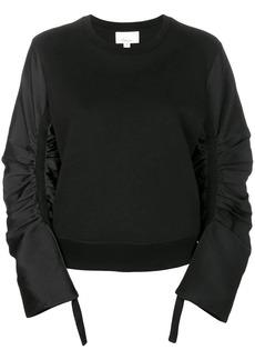3.1 Phillip Lim Gathered-sleeve sweatshirt