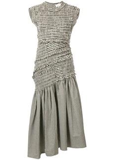 3.1 Phillip Lim gingham print asymmetric dress