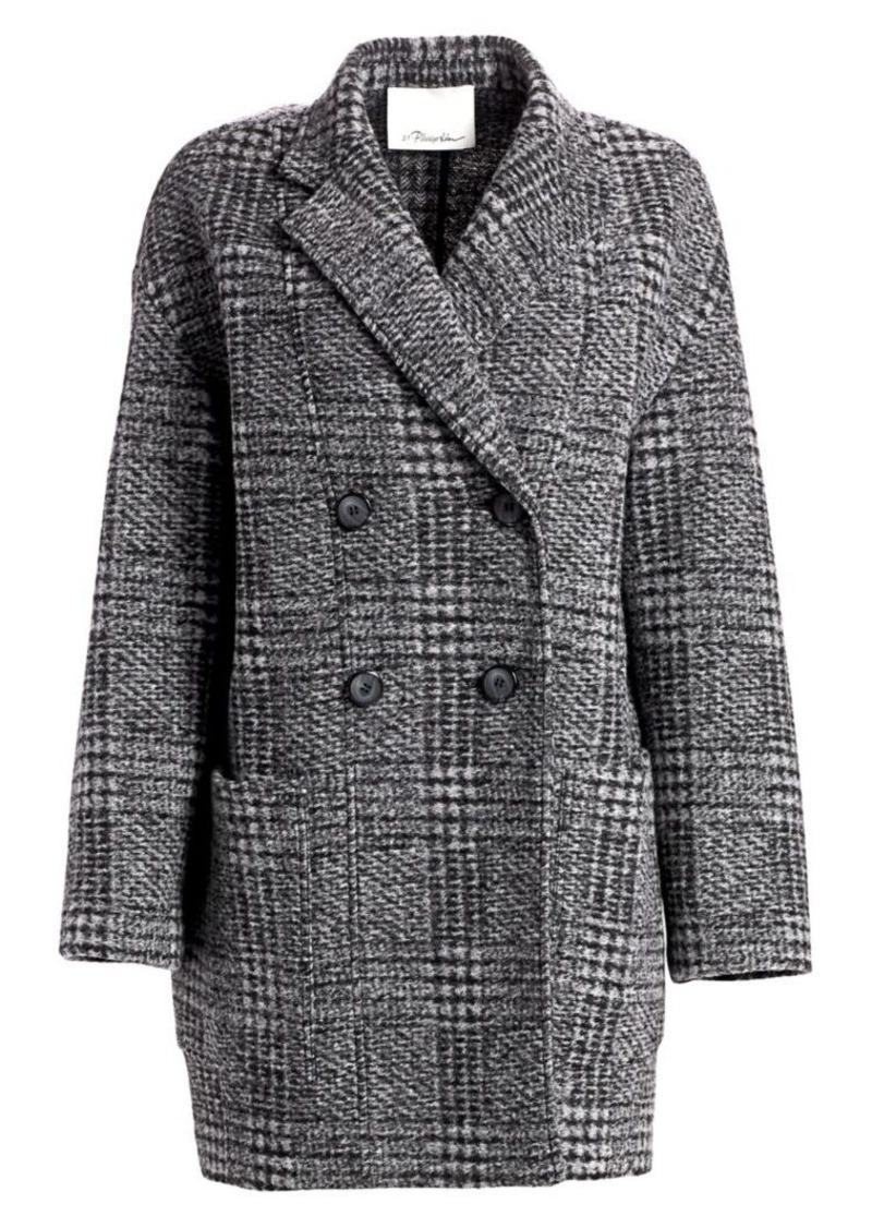 3.1 Phillip Lim Glen Check Dolman Sleeve Coat