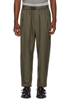 3.1 Phillip Lim Green & Grey Double Track Lounge Pants