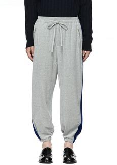 3.1 Phillip Lim Grey & Blue Baggy Sweatpants