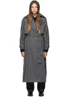 3.1 Phillip Lim Grey Dolman Sleeve Trench Coat