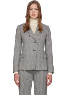 3.1 Phillip Lim Grey Merino Series Tweed Blazer