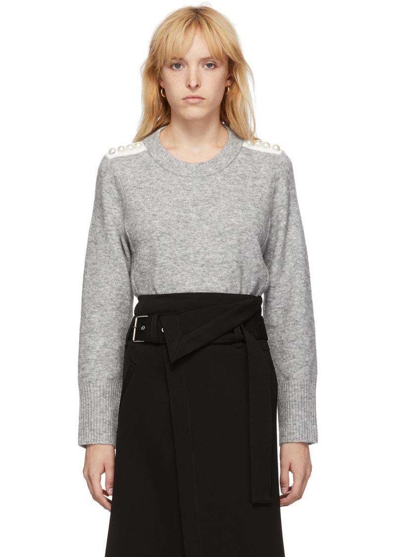 3.1 Phillip Lim Grey Pearl Pullover Sweater