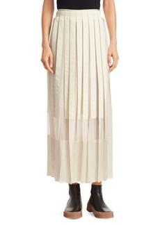 3.1 Phillip Lim Grosgrain Pleated Midi Skirt